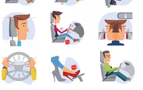 10 pasos para sentarse correctamente al volante