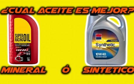 Aceite Mineral o Sintético