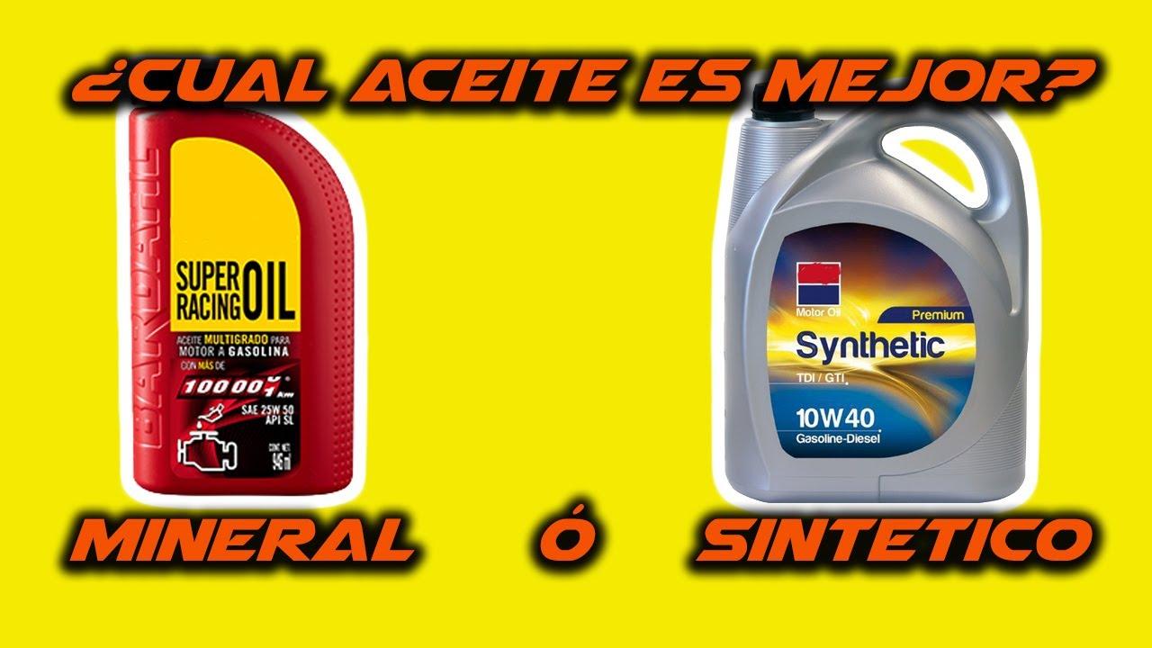 Aceite Mineral vs Sintético