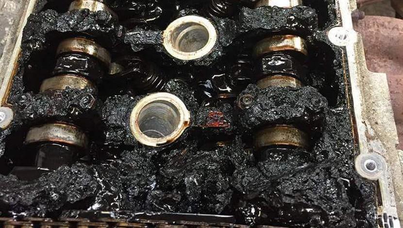 motor roto por no cambiar aceite