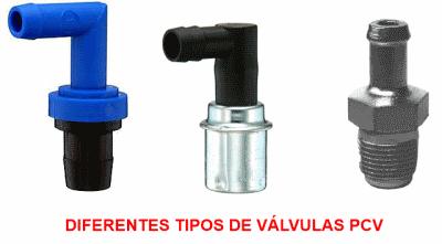 diferentes tipos de válvulas pcv